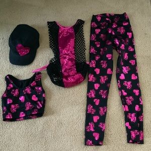 Pink and Black Hip Hop Costume